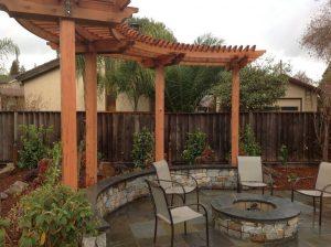 Cedar Arbor in outdoor living space